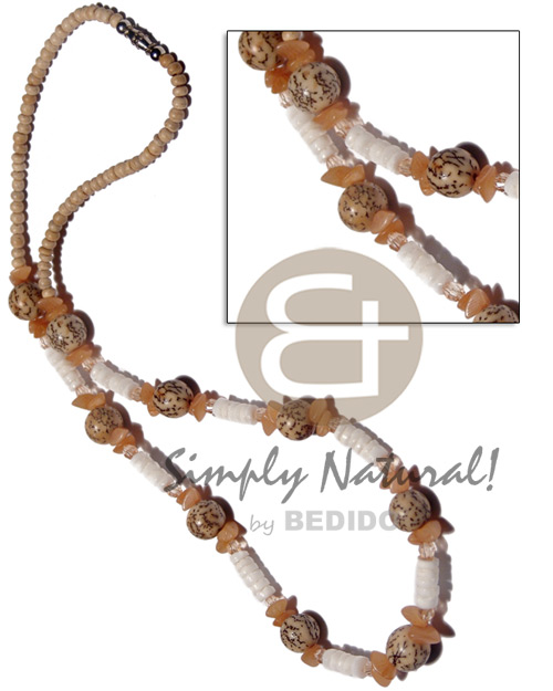 2-3mm coco pokalet natural Shell Necklace