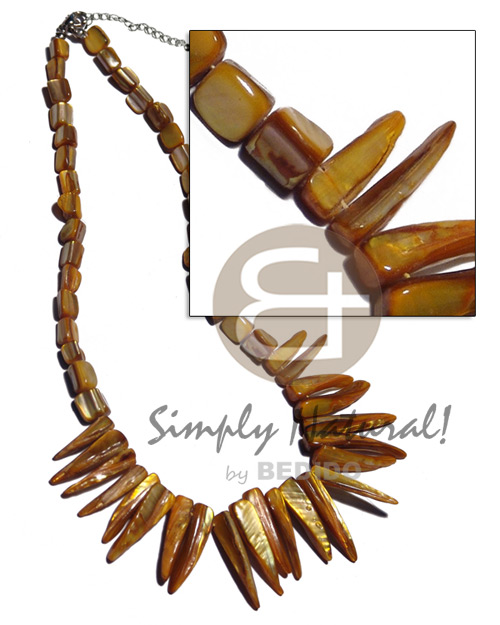 Kabibe nuggets matching kabibe Shell Necklace