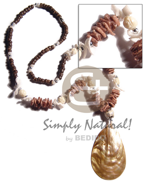 4-5mm coco pokalet white Shell Necklace