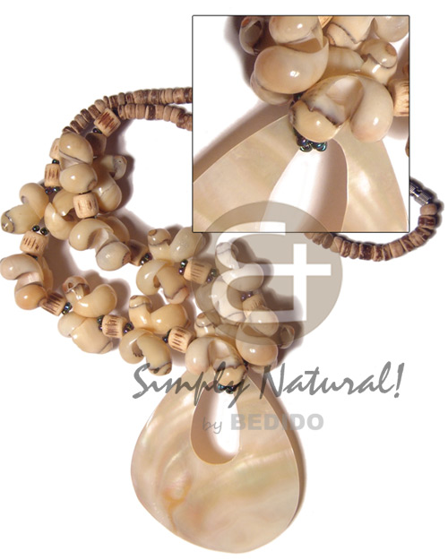 4-5mm coco tiger pokalet Shell Necklace