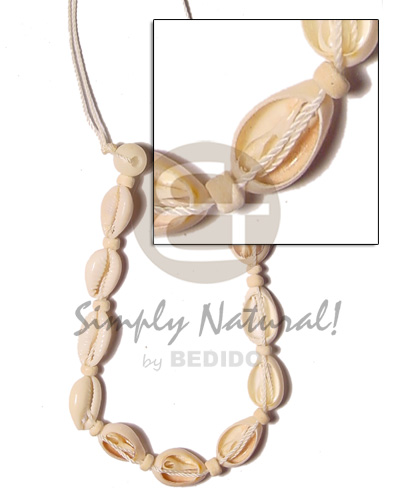 Sigay macramie single row Shell Necklace