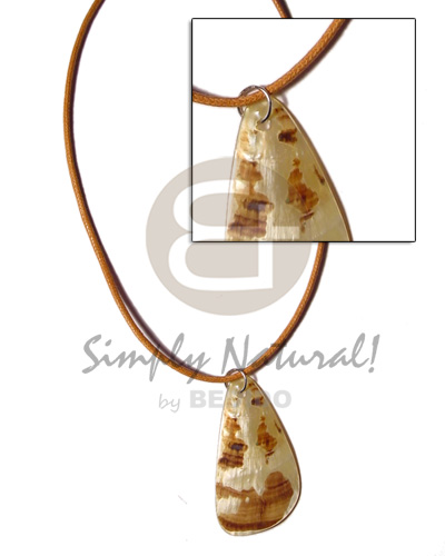 Cord teardrop 45mm mop Shell Necklace