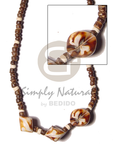 4-5 coco pokalet nat brown Shell Necklace