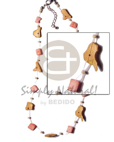 Floating coco pink shell nuggets Shell Necklace