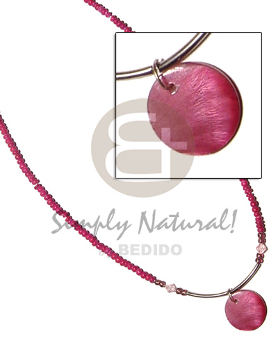 2-3 pink coco pokalet Shell Necklace