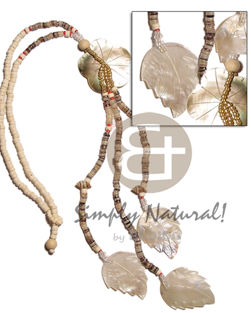 4-5mm coco heishe bleach Shell Necklace