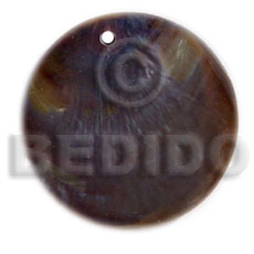 Round tipay shell black Shell Pendant