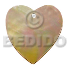 Heart mop 50mm Shell Pendant