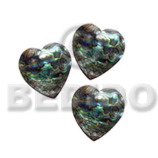 Heart paua abalone 15mm Shell Pendant