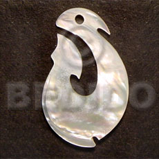 Hook mop 40mm Shell Pendant