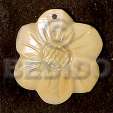 Flower melo 20mm Shell Pendant