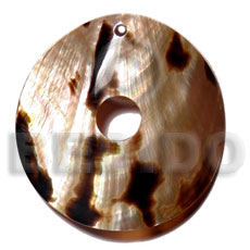 Brown lip tiger disc 60mm Shell Pendant