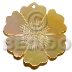 45mm mop flower Shell Pendant