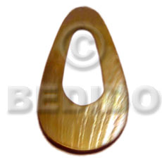 35mm brownlip teardrop ring Shell Pendant