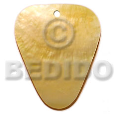 40mm inverted rounded edges triangle Shell Pendant