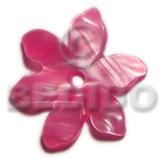 35mm kabibe colored flower Shell Pendant