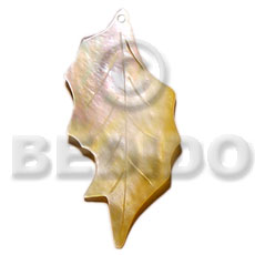 35mmx20mm mop leaf Shell Pendant