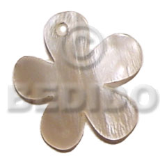 35mm hammershell flower Shell Pendant