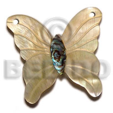40mm butterfly mop paua Shell Pendant
