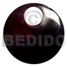Blacktab round 45mm 20mm Shell Pendant