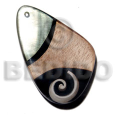 60mmx40mm 7mm thickness everlasting Shell Pendant