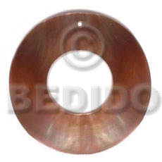 40mm brownlip ring 18mm Shell Pendant