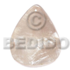 40mmx34mm hammershell rounded teardrop - Shell Pendant