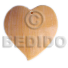 Heart melo 50mm Shell Pendants