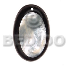 50mm hammershell oval thick Shell Pendants
