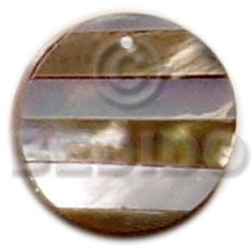 Round hammershell and brownlip stripe Shell Pendants