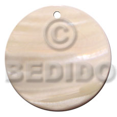 40mm round kabibe shell Shell Pendants