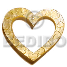 45mm heart ring mop Shell Pendants