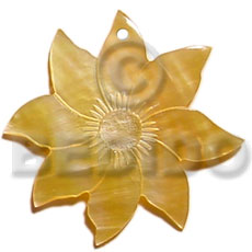 45mm mop flower Shell Pendants