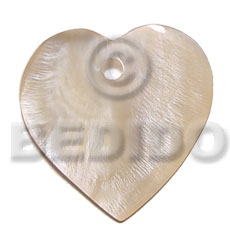 40mm heart hammershell Shell Pendants