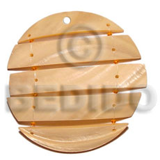 60mm segmented kabibe melon Shell Pendants