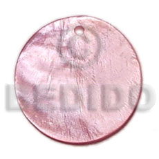 20mm round old rose hammershell Shell Pendants
