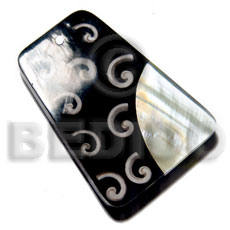 60mmx45mm 7mm thickness everlasting Shell Pendants