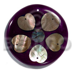 55mm round 7mm thickness Shell Pendants