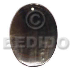 40mmx30mm blacklip oval - Shell Pendants