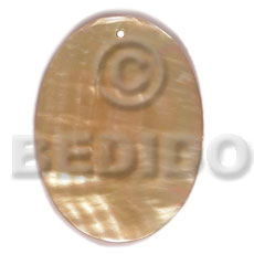 40mmx30mm mop oval Shell Pendants