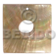 40mm square MOP  15mm center hole - Shell Pendants