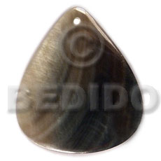 hand made 40mmx34mm blacklip rounded teardrop Shell Pendants