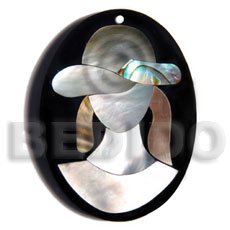 hand made 50mmx38mm oval pendant elegant hat Shell Pendants