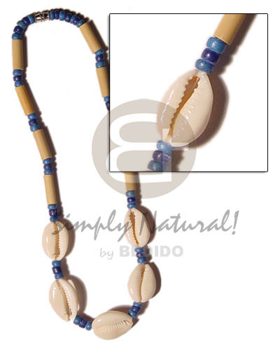 Cut sigay shell bamboo Sigay Necklace