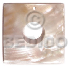 hand made 40mm square kabibe 15mm Simple Cuts Pendants