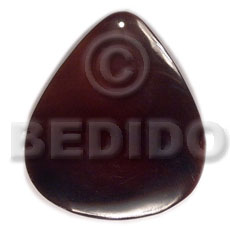 40mmx34mm blacktab rounded teardrop - Simple Cuts Pendants