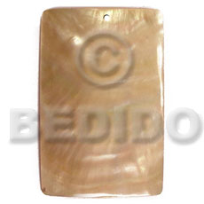 40mmx27mm rectangular mop Simple Cuts Pendants