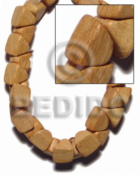 "hand made ""nangka"" barrel double slidecut 11mm Slide Cut Wood Beads"