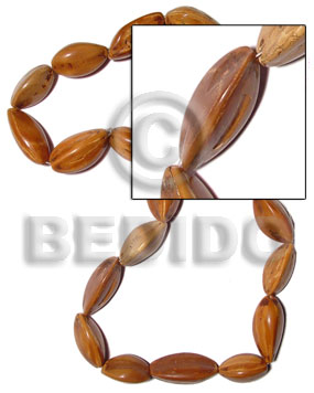 Pili nuts 10pcs. in Special Cuts Seed Beads