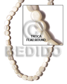 Troca sidedrill flat round 6-7mm Special Cuts Shell Beads